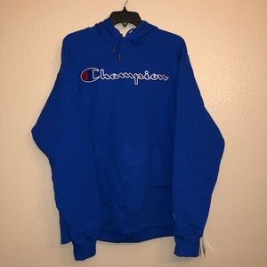 Champion Embroidered Spellout Power Blend Hoodie